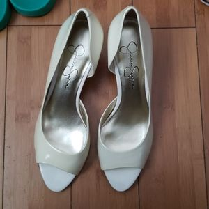 Ivory or off white heels